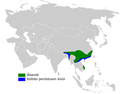 Locustella mandelli distribution map.png