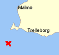 Lokaliseringskarta för var Pomerania gick på grund.PNG