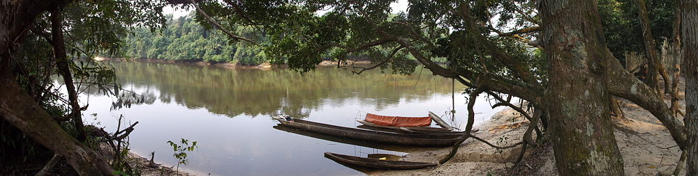 Lomami River at Katopa Camp, Democratic Republic of the Congo.