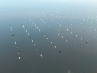 London Array wind farm in the outer Thames Estuary in the United Kingdom