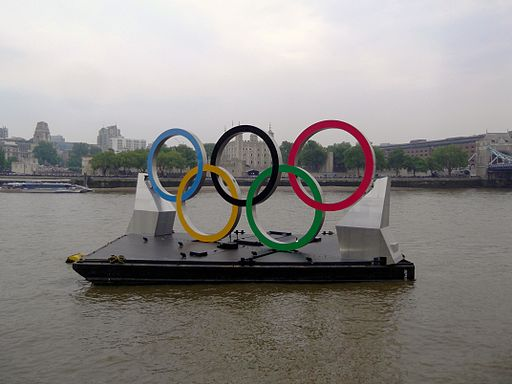 London Olympic Rings on the River Thames