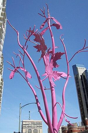 London metal street trees along Dundas Streets...