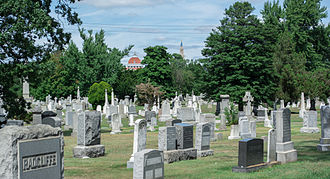 Glenwood Cemetery (Washington, D.C.) - Looking north across Section D.