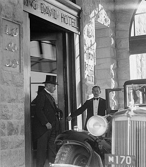 William Peel, 1st Earl Peel - Lord Peel in the entrance of the King David Hotel, 1936.