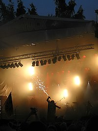 Lordi on stage at Ruisrock