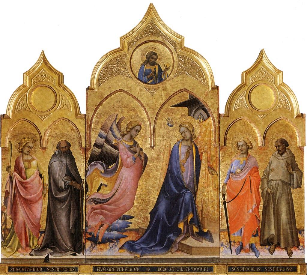 Lorenzo monaco, trittico dell'annunciazione