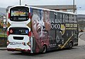 Lothian Buses bus 724 Volvo B7TL Wrightbus Eclipse Gemini SN55 BMU Harlequin livery full side advert Royal Blind School.jpg