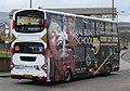 Lothian Buses bus 724 Volvo B7TL Wrightbus Eclipse Gemini SN55 BMU Harlequin livery full side advert Royal Blind School.jpg