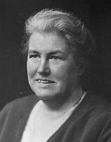 Black and white portrait photograph of Dame Louisa Aldrich-Blake
