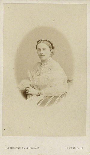 Louisa Cavendish, Duchess of Devonshire - by Le Jeune, albumen carte-de-visite, 1867 or before