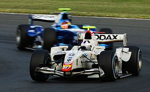 Lucas di Grassi - Di Grassi driving for Campos Grand Prix at the Silverstone round of the 2008 GP2 Series