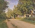 Ludvig Kabell - Vej gennem en landsby - KMS1512 - Statens Museum for Kunst.jpg