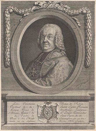 Louis Constantin de Rohan (1697–1779) - Image: Ludwig Konstantin von Rohan Guéméné