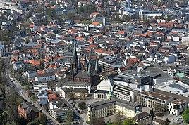 City centre of Oldenburg including St Lamberti Church