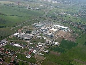Luftbild der AMD Chipfabrik Dresden