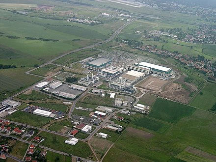 GlobalFoundries semiconductor factory Luftbild AMD Dresden 2005.jpg