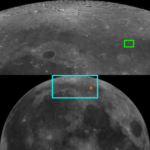 Galle (lunar crater) - Image: Lunar crater Galle