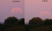 Selenelion lunar eclipse