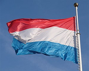 English: The great flag in Luxembourg city szl...