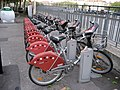 Lyon, France. VELO'V bike share, Quai Romain Rolland. - panoramio.jpg