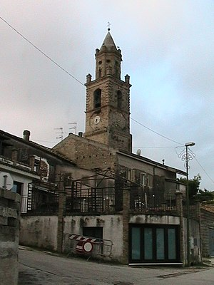 Roseto degli Abruzzi - View of the church of Montepagano (the old Roseto)