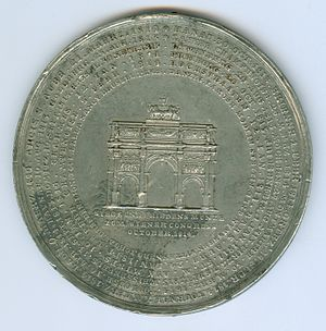 Battle of Hoogstraten - Medal made for the Congress of Vienna in October 1813, including the Battle of Hoogstraten