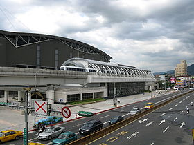 MRT Taipei Nangang Exhibition Center Station from footbridge.jpg