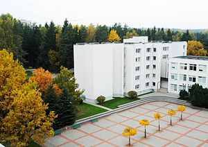 Mykolas Romeris University - MRU campus in autumn