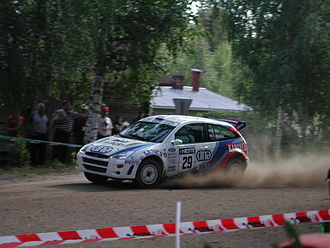 Markku Alén - Alén with a Ford Focus WRC at the 2001 Rally Finland.