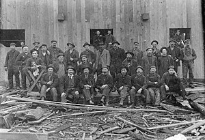 MacMillan Bloedel - Workers at Barclay Sound Cedar Company, later Alberni Pacific Lumber