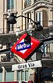 Madrid. Gran Vía street. Subway sign. Spain (2851024108).jpg