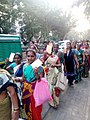Mahul Protest Postcard Rally, residents going to the post box.jpg