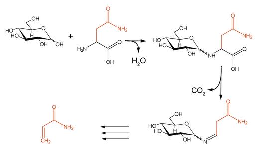 Maillard reaction asparagin