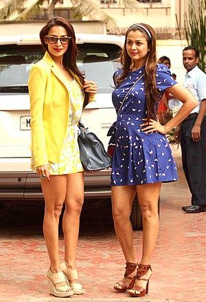 Malaika Arora - Malaika Arora (left) with her sister Amrita Arora, 2012.