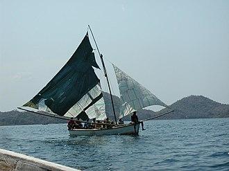 Transport in Malawi - Boat on Lake Malawi