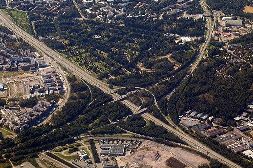 Malmi cemetery aerial