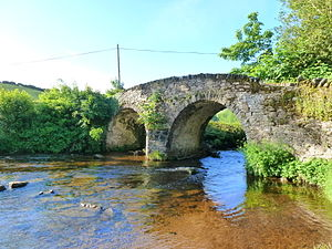 Malmsmead Bridge - Image: Malmsmead Bridge over Badgworthy Water (geograph 3002984)