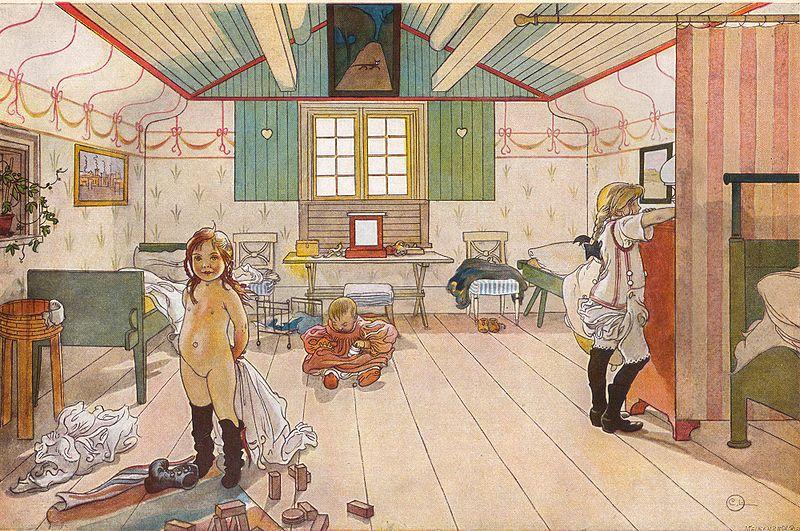 File: Mammas och småflickornas rum av Carl Larsson 1897.jpg