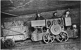 Battle of Evarts - Miners working underground.