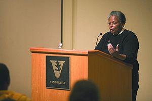Mandy Carter - Mandy Carter speaking at Vanderbilt University