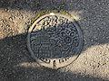 Manhole cover of Miyaki, Miyaki, Saga 2.jpg