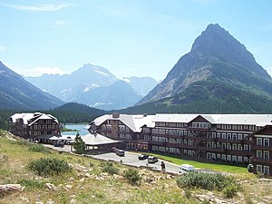 Glacier National Park (U.S.) - The Many Glacier Hotel on Swiftcurrent Lake