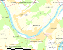 Mapa obce Bennecourt
