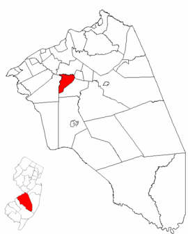 Map of Burlington County highlighting Hainesport Township.png
