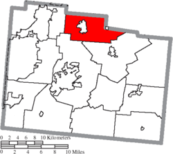 Location of Miami Township in Greene County