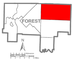Map of Howe Township, Forest County, Pennsylvania Highlighted.png