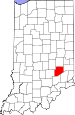 Map of Indiana highlighting Decatur County.svg