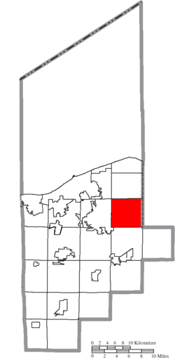 Location of North Ridgeville in Lorain County
