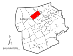 Map of Luzerne County, Pennsylvania Highlighting Lehman Township.PNG