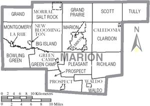 marion ohio map